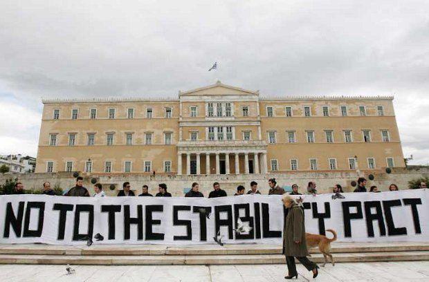 Греки протестуют против соглашения с кредиторами