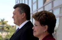 Янукович за обедом поверил в успех украинско-бразильского партнерства