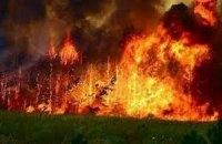 Лесной пожар угрожает монастырям Афона