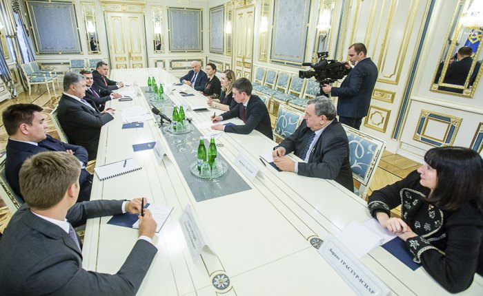 Зустріч президента Петра Порошенка з делегацією французьких парламентарів