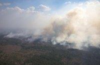 МВС назвало версії виникнення лісових пожеж на півночі України