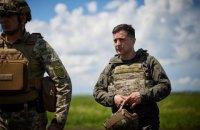 """Зеленський констатував значне зниження обстрілів на передовій """"за останні 7-10 днів"""""""