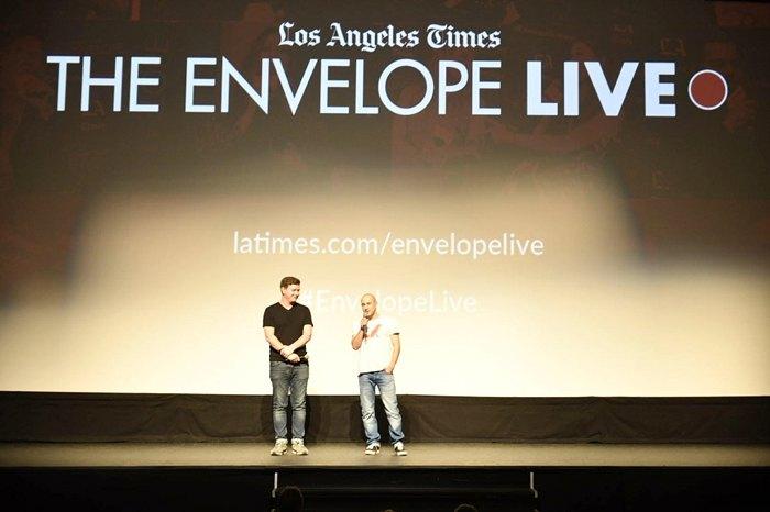 Режисер Наріман Алієв і продюсер Володимир Яценко на показі фільму 'Додому' в Лос-Анджелесі.