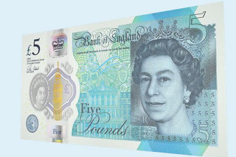 Банк Англії презентував пластикову п'ятифунтову купюру з портретом Черчілля