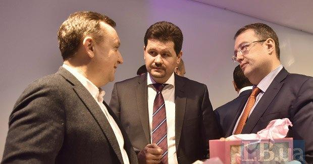 Слева направо: Роман Андрейко, Святослав Цеголко и Антон Геращенко