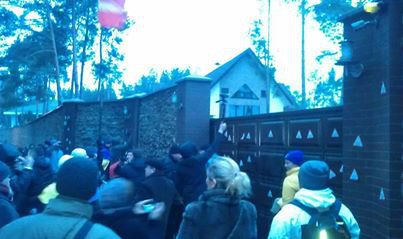 Автомайдан, дом Захарченко