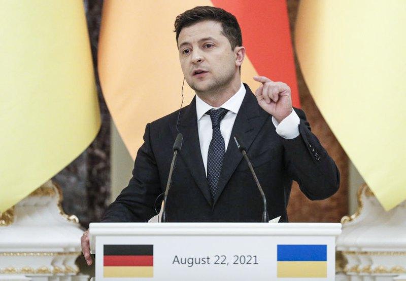 Під час перемовин з канцлером Меркель, 22 серпня 2021 року