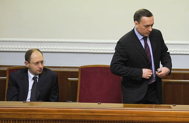 Арсений Яценюк и Николай Мартыненко