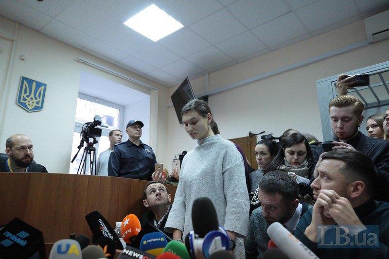 Яна Дугарь під час засідання суду