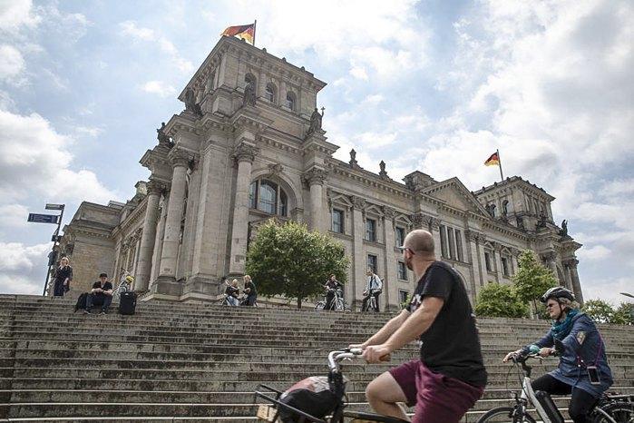 Здание парламента Германии - Бундестага, Берлин, 17 июля 2020.