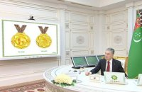 """Президент Туркменістану затвердив дизайн медалей для собак та запровадив звання """"Відважний алабай року"""""""
