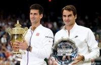 Джокович и Федерер на Уимблдоне вышли в 100-й четвертьфинал ТБШ на двоих