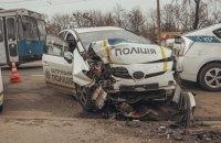 Сотрудница патрульной полиции госпитализирована из-за ДТП в Киеве