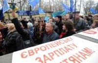 Під Радою мітингують проти ухвалення Трудового кодексу