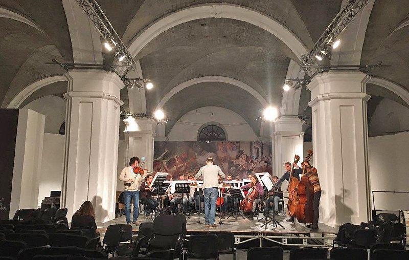 Репетиция скрипичного концерта Дьёрдя Лигети в Мистецьком Арсенале