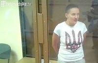 За тиждень голодування Савченко втратила 5 кг