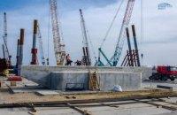 На Тузлі побудували першу опору під Керченський міст