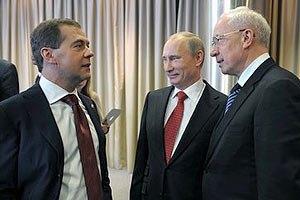 Азаров и Медведев поговорили о ратификации договора ЗСТ с СНГ