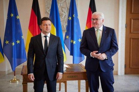 Зеленський обговорив із президентом Німеччини прогрес у втіленні реформ в Україні