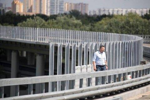 Кличко проверил ход работ на Подольско-Воскресенском мостовом переходе