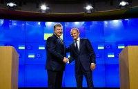 Порошенко провел встречу с Туском в Брюсселе