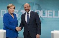Меркель перемогла Шульца у вирішальних теледебатах