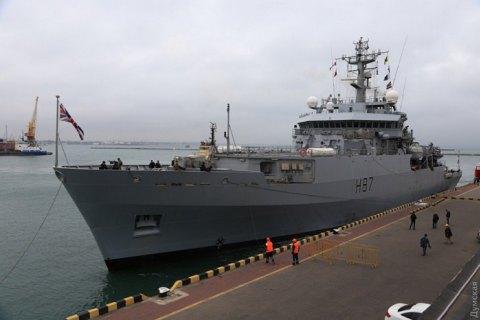 Британский корабль-разведчик с украинскими стажерами покинул Одессу и взял курс на Босфор