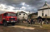 В Ивано-Франковской области горела 200-летняя церковь ПЦУ