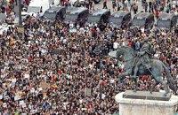 В Мадриде более тысячи человек протестуют против безработицы