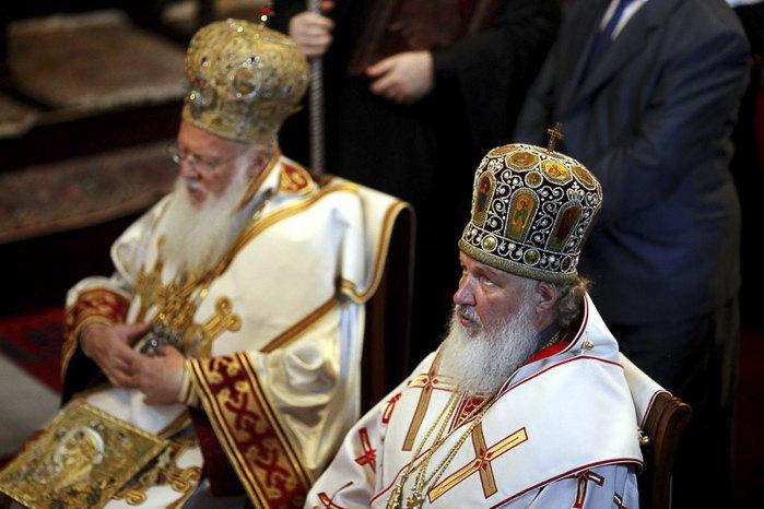 Вселенский Патриарх Варфоломей I и Патриарх Московский Кирилл