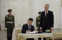 Зеленский в Вильнюсе подписал декларацию о развитии стратегического партнерства с Литвой