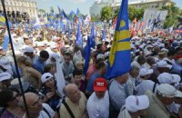 Милиция Хмельницка насчитала 1800 участников акции оппозиции