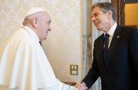 Держсекретар США Блінкен зустрівся у Ватикані із Папою Римським Франциском
