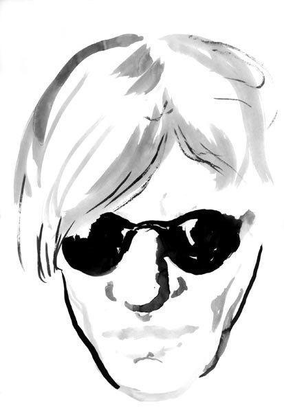 Павел Пепперштейн. «Портрет человека в черных очках»