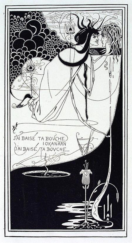 Обри Бердслей. J'ai baisé ta bouche Iokanaan. 1894. Фототипия. Музей Виктории и Альберта, Лондон.
