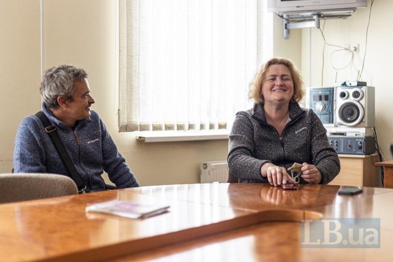 Оксана Потимко та Ярослав Нудик під час показу фільму *Позивний Бандерас*
