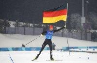 Команда Германии выиграла на Олимпиаде соревнование в лыжном двоеборье