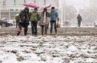 Снегопад парализовал юг Украины