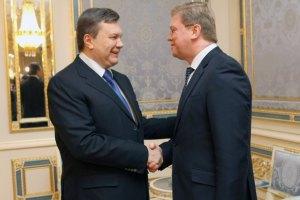 Янукович провел встречу с Фюле