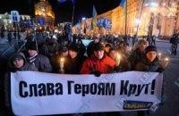 """Активисты ВО """"Свобода"""" провели факельное шествие в день памяти героев Крут"""