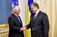 Порошенко и Тиллерсон согласовали шаги для мирного урегулирования на Донбассе