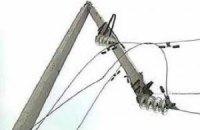 Частина Донецька залишилася без електрики після урагану