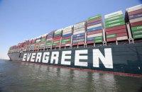 Контейнеровоз Ever Given залишив стоянку в Суецькому каналі та попрямував у Середземне море
