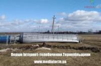 У Тернопільській області через сильний вітер упала водонапірна вежа