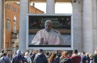 Папа Римський Франциск закликав Палестину та Ізраїль зупинити бойові дії