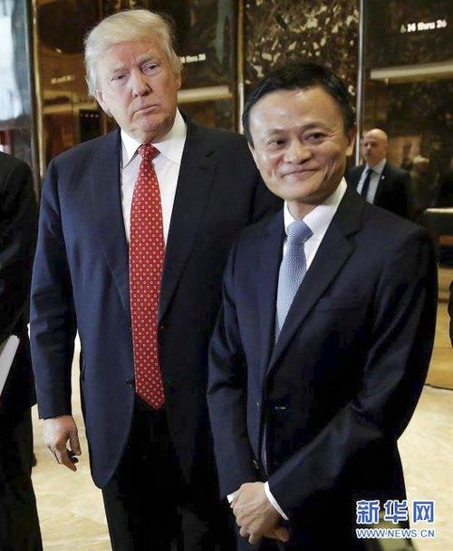На встрече с президентом США Джек Ма пообещал поспособствовать созданию миллиона рабочих мест в Америке. Нью-Йорк, 9 января 2017.