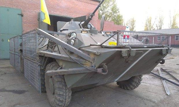 Защиту на БТР для 43 батальона устанавливали на передовой