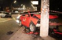 В Киеве столкнулись два такси Uklon