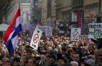 У Хорватії пройшли багатотисячні мітинги проти одностатевих шлюбів