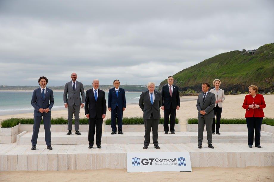 Во время первого дня саммита стран G7 в Карбис-Бэй, Великобритания, 11 июня 2021 г.